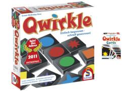 Schmidt Spiele 49314 Bundle Qwirkle + Qwirkle Kartenspiel, 2 bis  4 Spieler, ab 6 Jahre