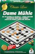 Schmidt Spiele 49083 Classic Line Dame / Mühle, 2 Spieler, ab 7 Jahre