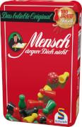 Schmidt Spiele 51204 Mensch Ärgere Dich Nicht, Mitbringspiel in der Metalldose, 2 bis 4 Spieler, ab 6 Jahre