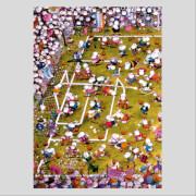 HEYE Dreieckspuzzle - Mordillo - Crazy Football - 1000 Teile