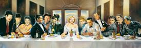 Schmidt Puzzle 57291 Renato Casaro, Dinner der Berühmtheiten, Panoramapuzzle, 1000 Teile, ab 12 Jahre