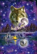 Schmidt Puzzle 58233 Wolf im Mondlicht, 1000 Teile, ab 12 Jahre