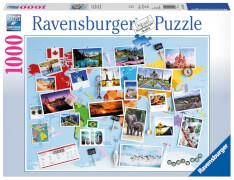 Ravensburger 196432 Puzzle: Reise um die Welt 1000 Teile