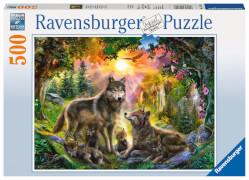 Ravensburger 14745 Puzzle Wolfsfamilie im Sonnenschein 500 Teile