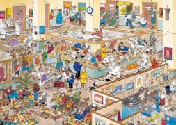 Jumbo 01650 Puzzle Jan van Haasteren, Besserung!, 1000 Teile
