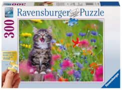 Ravensburger 136162 Puzzle: Katze im Blumenmeer, 300 Teile