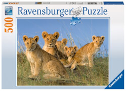 Ravensburger 147915 Puzzle: Löwen Babys 500 Teile