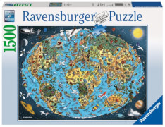 Ravensburger 163601 Puzzle: Kunterbunte Erde 1500 Teile