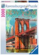 Ravensburger 198351 Puzzle: Retro New York 1000 Teile