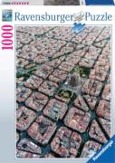 Ravensburger 15187 Puzzle Barcelona von Oben 1000 Teile