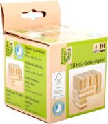 Natural Games 3D Holz-Geduldspiel Würfel # 7 cm