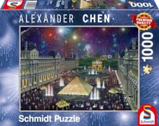 Schmidt Spiele Puzzle: Feuerwerk am Louvre 1000 Teile