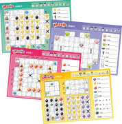 Schmidt Spiele Dizzle Level 5-8, Block, 12 Stück