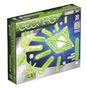 Geomag Glow 30 - Magnet-Konstruktions-Set, 30-teilig, Kunststoff/Metall