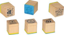 Die Spiegelburg - BabyGlück Mobile Glückspilz, ca. 30,2 x 25,6 x 5,8 cm, mit süßen Stofftieren