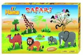 HAMA Bügelperlen Midi - Gigantische Geschenkpackung Safari - 4 Stiftplatten 5000