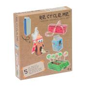 Re Cycle Me - Bastelspaß: Geschenk, Eule, Vogelhaus, 2 Pflanzkübel