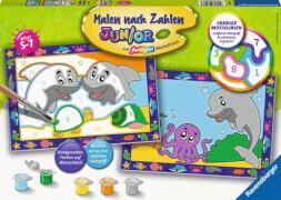 Ravensburger 28147 Malen nach Zahlen Lustige Delfine