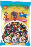 HAMA Bügelperlen Midi - Vollton Mix 3000 Perlen (22 Farben)