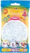 HAMA 207-19 Bügelperlen Midi - Transparent Weiß 1000 Perlen, ab 5 Jahren