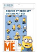 Minions großes Sticker-Set mit 4 Stickerbögen und einem Pop Up-Stickerbogen