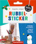 Rubbel-Sticker (winterlich) - für Papier