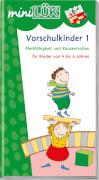 miniLÜK Übungen für Vorschulkinder 1, Lernheft, 29 Seiten, von 4 - 6 Jahren
