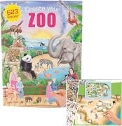 Depesche 5376 Create your ZOO - Malbuch mit  Stickern