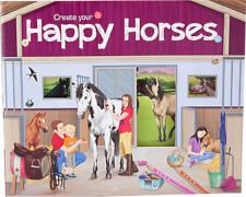 Depesche 5689 Create your Happy Horses - Malbuch mit Stickern