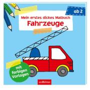 Ars Edition - Mein erstes dickes Malbuch Fahrzeuge, Taschenbuch, ab 2 Jahren, 80 Seiten