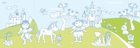 Haba Kreativ Kids  Ausklapp-Poster-Malbuch Feen#