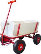 Bollerwagen mit Bremse + PU-Reifen