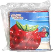 Splash & Fun Badeinsel Erdbeere, Luftmatratze, ca. 143x140x25 cm, ab 5 Jahren