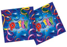 Party Streamers Servietten 20 Stück, ca. 33 x 33 cm