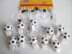 Fußballpfeife mit Schnur