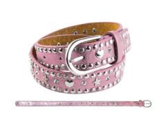 Kinder Gürtel Nieten Herz+Stern rosa 65 cm
