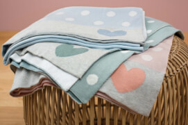 Lässig 4Babies Lela Knitted Blanket light blue